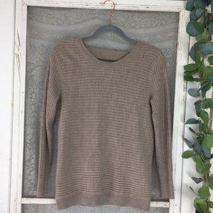 SoHo New York & Company Open Cross-Back Sweater XS